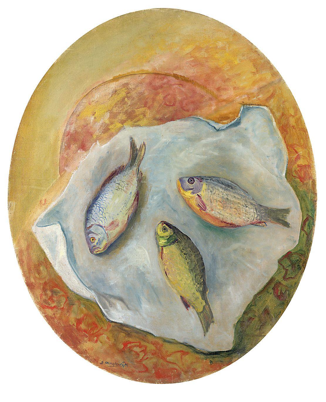 Lot 24 David Shterenberg, Still Life with Fish