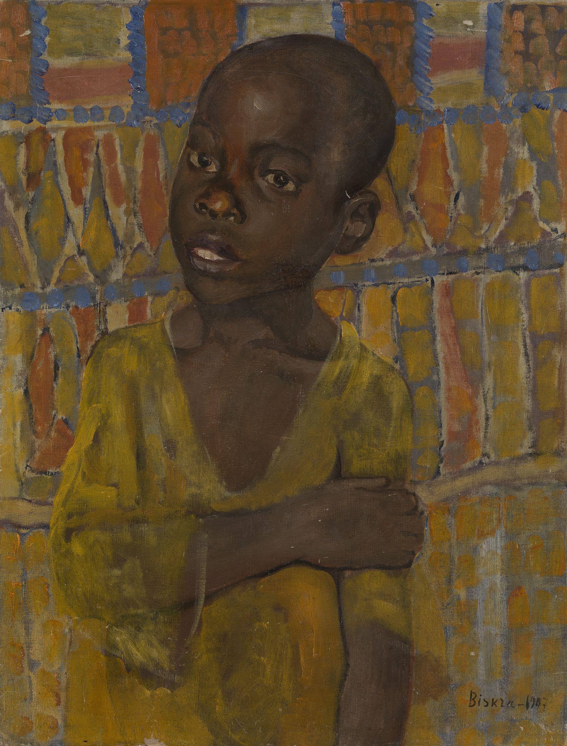 Lot 28 Kuzma Petrov-Vodkin, Portrait of an African Boy