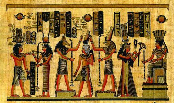 У Стародавньому Єгипті писали на папірусі